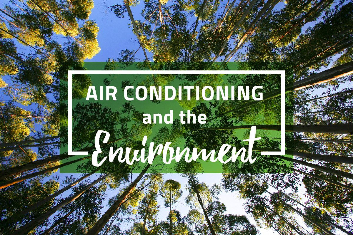 How does air conditioning affect the environment?